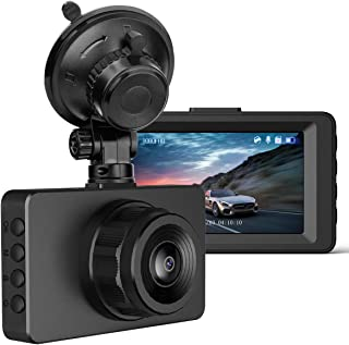 Dash Cam 1080P Full HD in Car Dash Cam DVR Car Dashboard Camera WDR Dashcam for Cars Video Recorder, 3 Inch IPS Screen, 170°Wide Angle, Loop Recording, G-Sensor, Motion Detection, Parking Monitor