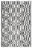 FAB HAB Veria - Gris/Negro Alfombra Hecha de Pet Reciclado (Hilo de poliéster) para Uso Interior/Exterior (60 cm x 90 cm)