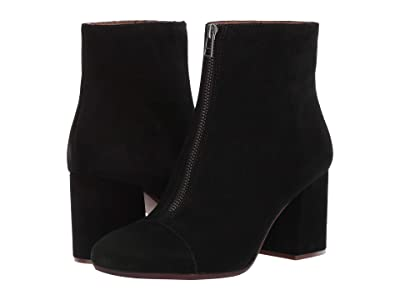 Madewell Rita Front Zip Boot (True Black Suede) Women