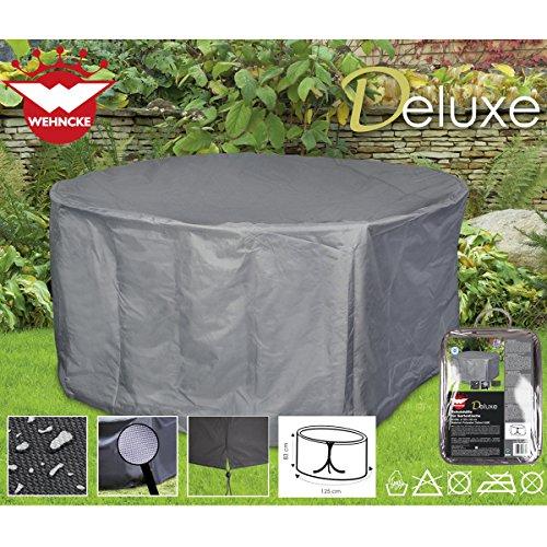 Siehe Beschreibung Deluxe Schutzhülle für Gartentische, ø125x83 cm Polyester 420D - Garten Tisch Gartenmöbel Schutz Hülle Abdeckung Tragetasche Plane