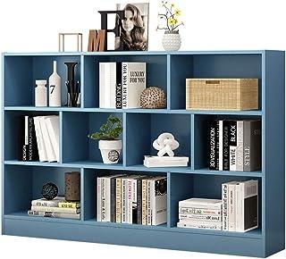 Bibliothèques Bibliothèque en bois massif créative Étagère de rangement en bois sur 4 niveaux Meuble de rangement for cham...