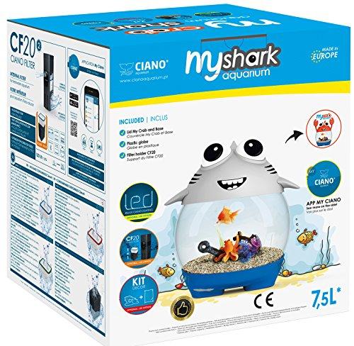 CIANO Aquarium My Aquarium Shark für Aquaristik grau