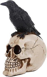 Halloween Wrona Czaszka Prop Ornament Żywica Fałszywa Figurka Zwierzątka Ornament Straszne Figurki Czaszki Czaszka Głowa N...