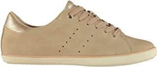 Official Brand Kangol Ada Low Womens Trainers Shoes Brown Ladies Casual Footwear