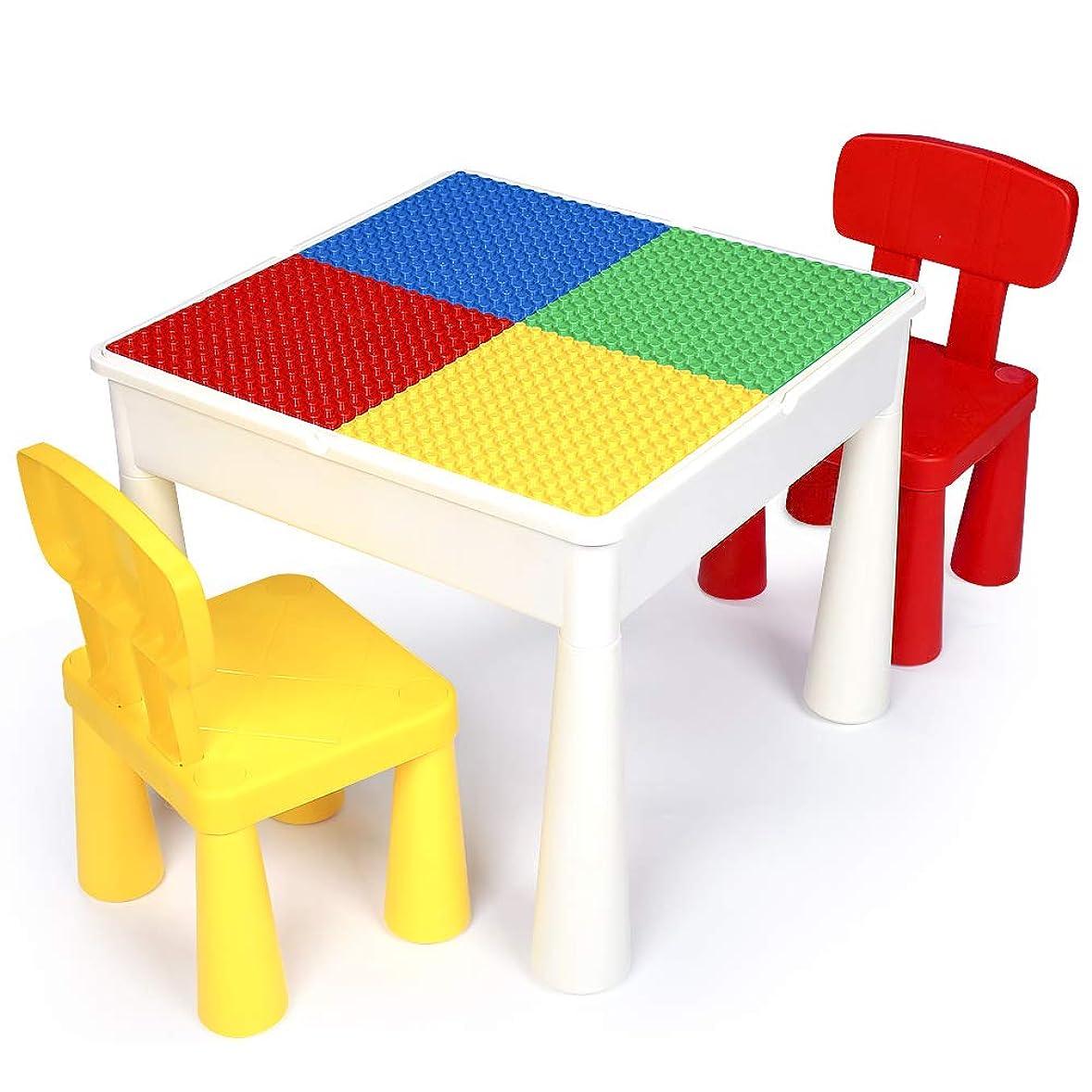 シンカン全能正規化子供 ブロック テーブルと椅子のセット, プレイ/学習/絵かき/ダイニング テーブル