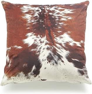Hofdeco Decorative Throw Pillow Cover Premium Short Plush Fall Decor Tri Color Brown Southwestern Cowhide Print 18