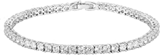 PAVOI 14K Gold Plated 3mm Cubic Zirconia Classic Tennis Bracelet | Gold Bracelets for Women | Size 6.5-7.5 Inch