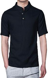 [LIBECLO(リベクロ)]X017 夏物 最終 処分 赤字 立て襟 半袖 シャツ おしゃれ 夏モデル 2020年