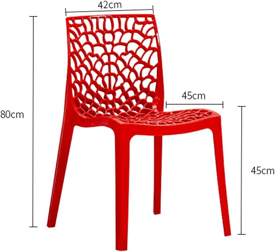 LF Chaise de Salle, Chaise de Bureau Simple, créative Dossier, Chaise Loisirs, Maison Adulte Chaise de Salle Simple (Color : Red) Black