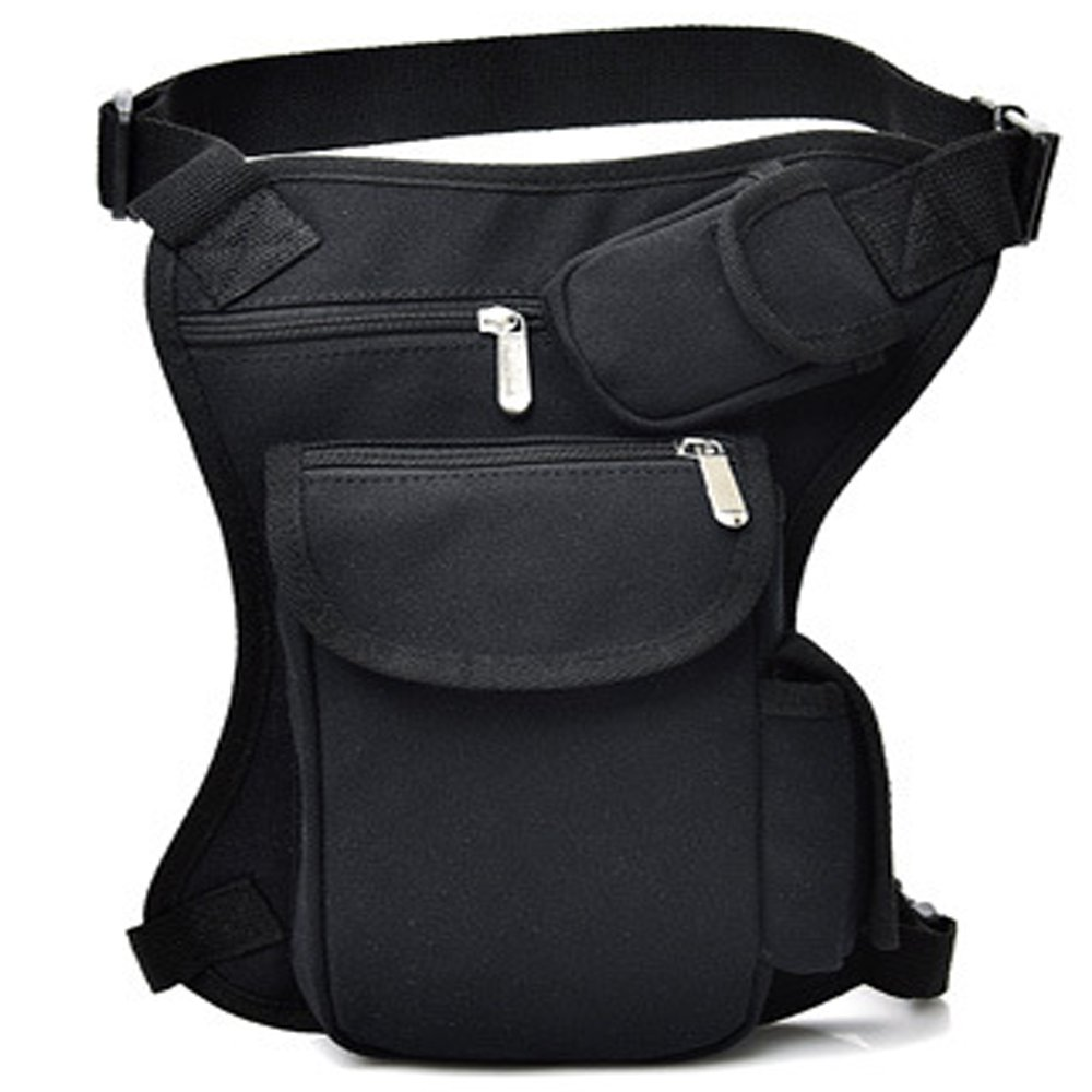 Thigh Waist Fanny Pack H HILABEE Waterproof Motorcycle Bike Drop Leg Bag for Men Multi-Function Travel Outdoor Sports Riding Cycling Pouch Wallet