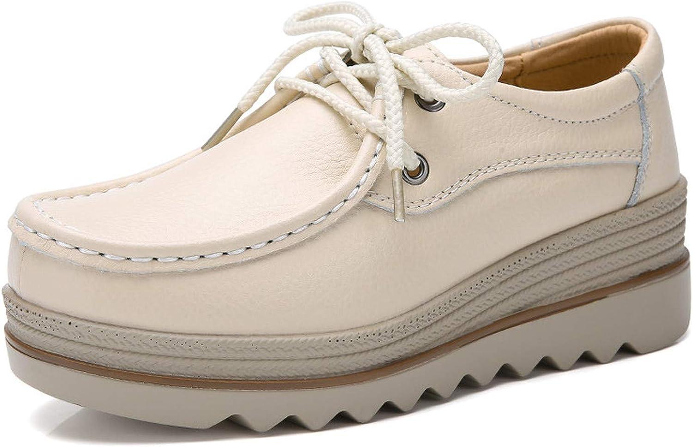 Rseobl Women shoes Sneaker Loafers Ballet Genuine Leather Flat Platform Woman shoes Female Women shoes