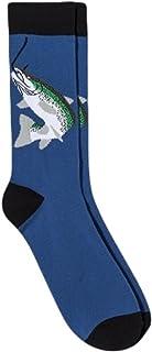 Mossimo Supply Co. Men's Stretch Crew Socks, Fish Novelty Socks