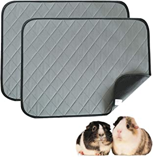 NY Guinea Pig Liner 2-Pack Dark Gray Small Animals Washable Pee Pad Bed Highly Absorbent Guinea Pig Bedding Reusable Pet T...