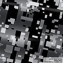 Metro Wrap Series Urban Night Large Digital Camouflage 5ft x 1ft (5 sq/ft) Camo Vinyl Car Wrap Film