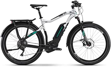 Haibike Sduro Trekking 7.0 2019 Pedelec - Bicicleta eléctrica, color gris, negro y turquesa