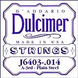 D'Addario J6403 Corde seule en acier pur pour dulcimer