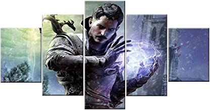 Modular Painting Wall Artwork 5 Pieces Video Games Dragon Age Picture Hd Prints Home Poster Canvas Living Room Decor Framed