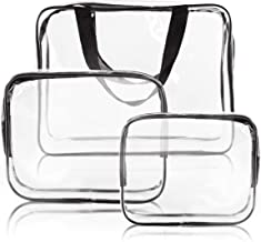 House of Quirk PVC Packing Organizers (Set of 3) (Clear_TRANS_TRAVELCUBE_SET3)