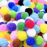 ULTNICE 1200pcs Decorativo Pom Poms Craft 10mm Mini Pompon assortiti Pom Poms decorazioni colore miscelati