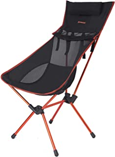 XMmux Ultralight 350lbs Comfortable Aluminum Folding Camping Chair, Portable Lightweight Extral Tall Wide Compact Chairs for Backpacking, Travel, Beach, Picnic, Festival Hiking (with Carry Bag)