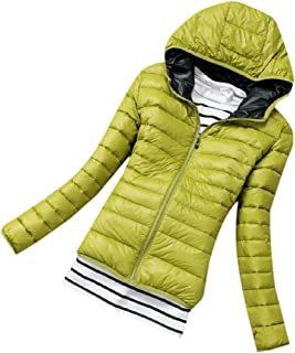 Womens Winter Long Sleeve Warm Hooded Parka Jacket Thicken Short Down Coat Jacket Thicken