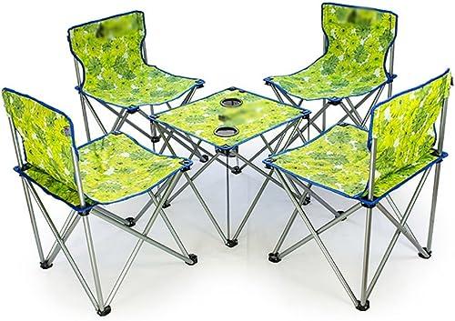 D_HOME Self-Driving Pliant Récréatif Chaise De Plage Outdoor Leisure Table Table Combinaison Portable Table Et Chaise Ensemble (Couleur   vert, Taille   M)