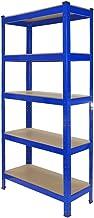 4 x T-Rax Stellingkasten - 75x30x150 cm per rek - Blauw - 100% boutloos - Draagkracht: 150 kg per plank - opbergrek metaal