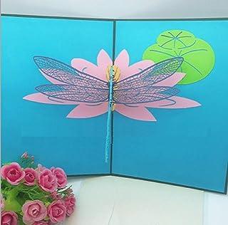 BC Worldwide Ltd 3D pop-up card, libellula, compleanno, anniversario di matrimonio, Natale, San Valentino, festa della mam...