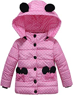 Ankola Down Jacket Girls Hooded Winter Warm Padded Hooded Down Windproof Jacket Coat