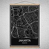 TIANLIANG Poster Welt Stadtplan Öl Gemälde Leinwand