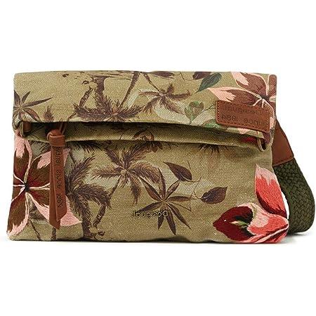 Desigual Womens Fabric Across Body Bag, Green, U