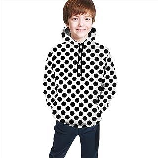 Black and White Spots Kids/Teen Girls' Boys' Hoodie,3D Print Pullover Sweatshirts