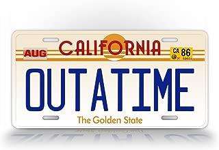 SignsAndTagsOnline California Outatime Replica Auto Tag Back to The Future Movie Delorean License Plate