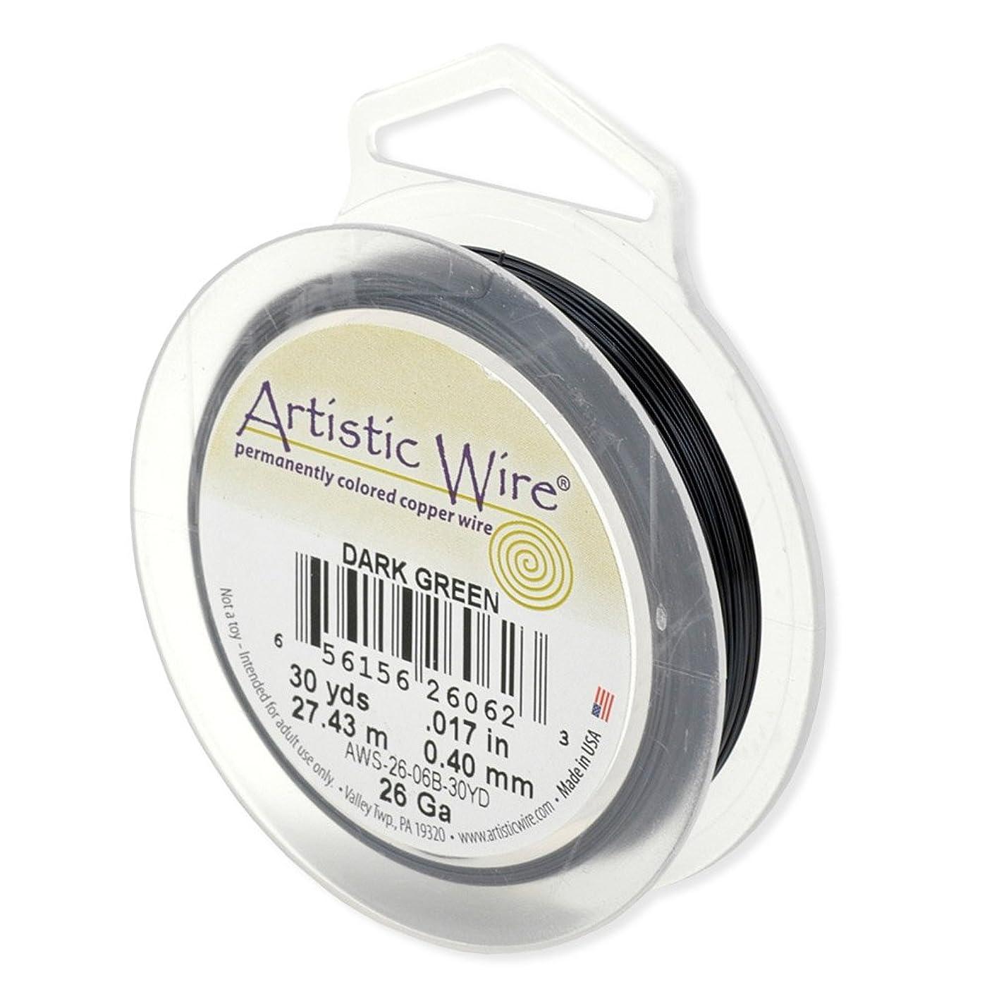 Artistic Wire 26-Gauge Dark Green Wire, 30-Yards