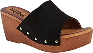 Do Bhai Women Casual Wear Platform Slip On Heels