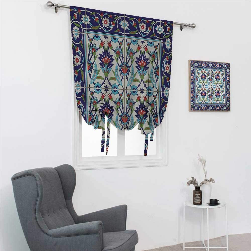 GugeABC Balloon Shades Turkish Pattern Tie Up Window Shade for H