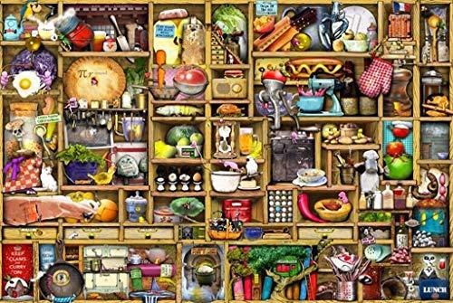 AQWWHY Armario de la Cocina 1.000 Piezas Jigsaw Puzzle for Adultos Bricolaje Hermoso hogar Moderno del Arte en Cuadro de la Pared de la Sala de Estar y Dormitorio