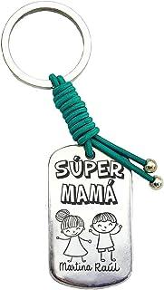 Llavero Súper Mamá Personalizado Regalo Día de la Madre