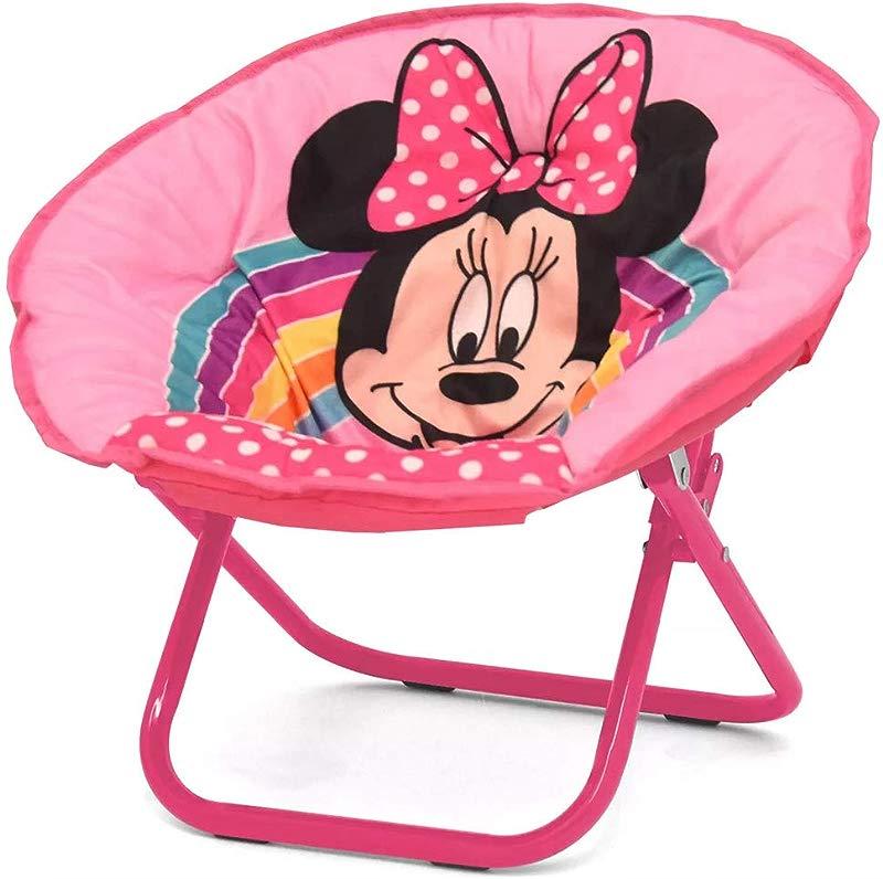 Disney TK320708 Minnie Mouse Mini Saucer Chair Pink