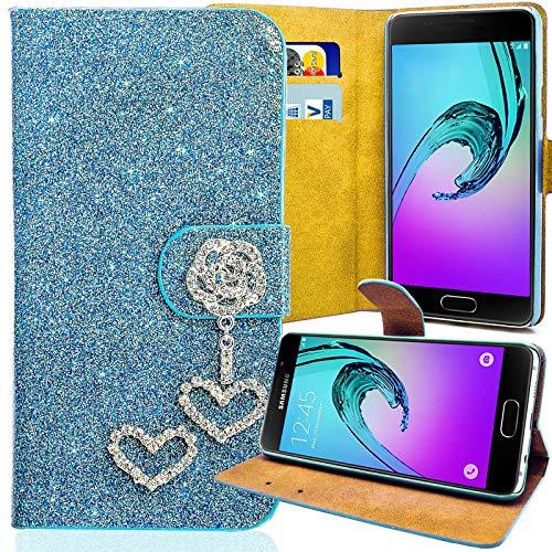purpurina funda para LG E430Optimus L3II 2turquesa Carcasa Funda Bag Bling...