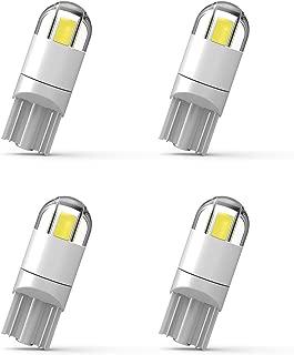 194 LED Bulb 3030 Chipset T10 194 168 SMD W5W LED Wedge Light 1.5W 12V License Plate Light Courtesy Step Light Turn Light Signal Light Trunk Lamp Clearance Lights (4pcs/pack)
