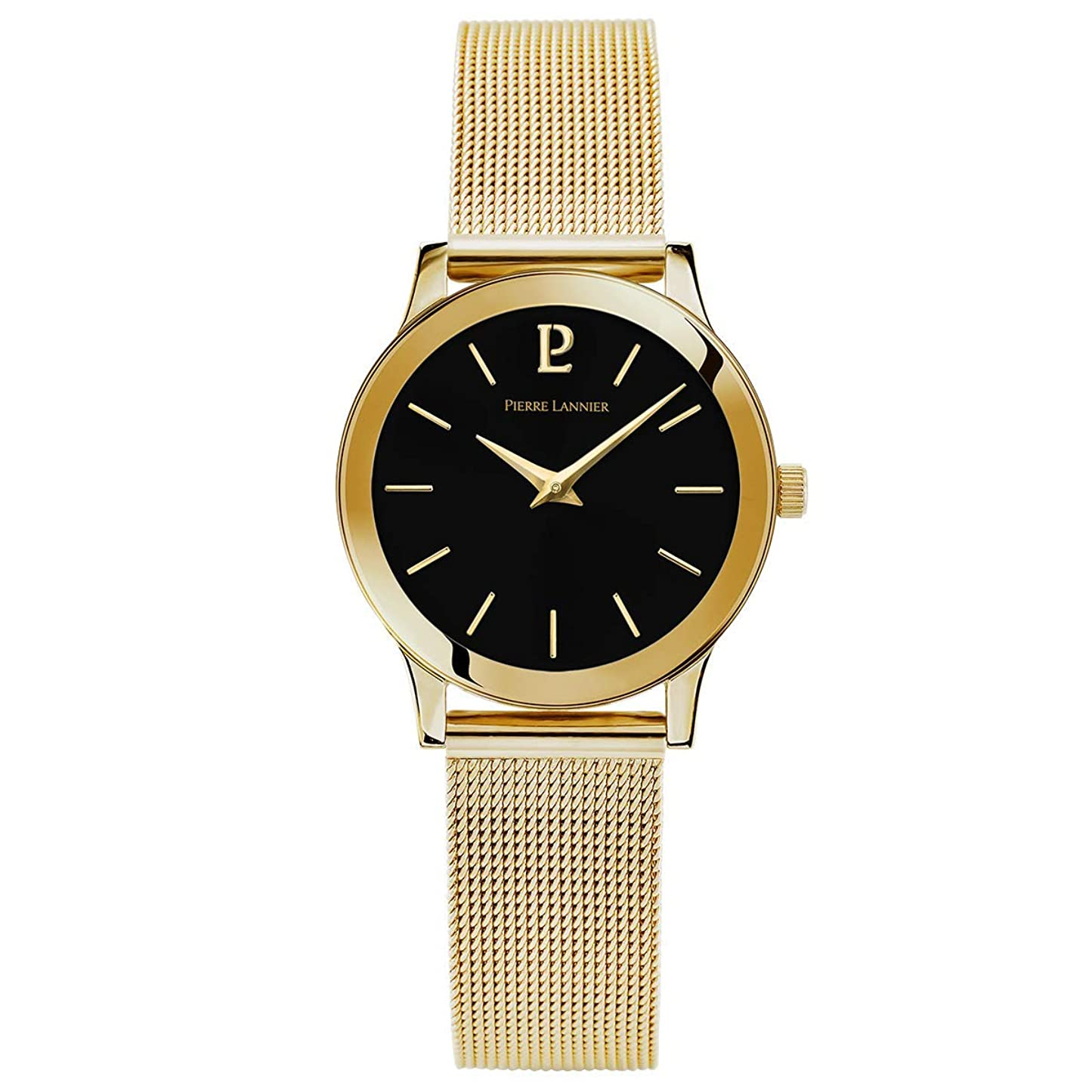 風味唇六月Pierre Lannier Ligne 純金ミラネーゼレディース腕時計