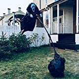 Scream Scarecrow for Garden Life Size Ghostface Scarecrow Outside Yard Hanging Scary Ghost Halloween Party Decor -Black