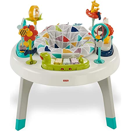 Fisher-Price 2-in-1 Sit-to-Stand Activity Center – Sit and spin stationary entertaining infant activity walker