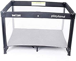 Love N Care Playland Travel Cot, Nero