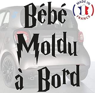 Anakiss Sticker B/éb/é /à bord pour voiture Petit Breton /à Bord 20 cm Noir