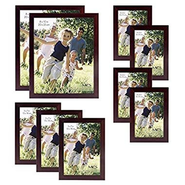 MCS Gallery Wood 9-Piece Frame Set, Espresso (65616)