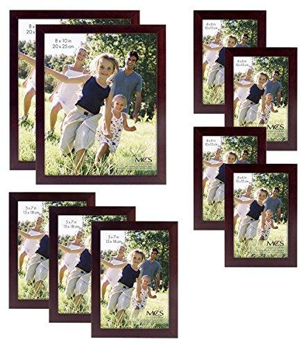 MCS Gallery Wood 9-Piece Frame Set, Espresso (65616)