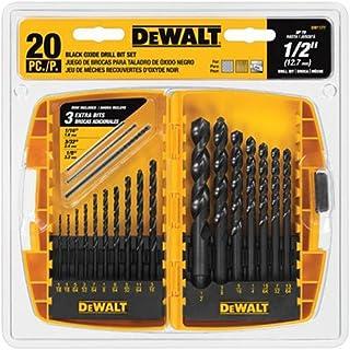 DEWALT DW1177 Black-Oxide Metal Drill Bit Set, 20-Piece (B001EYU5N8) | Amazon price tracker / tracking, Amazon price history charts, Amazon price watches, Amazon price drop alerts