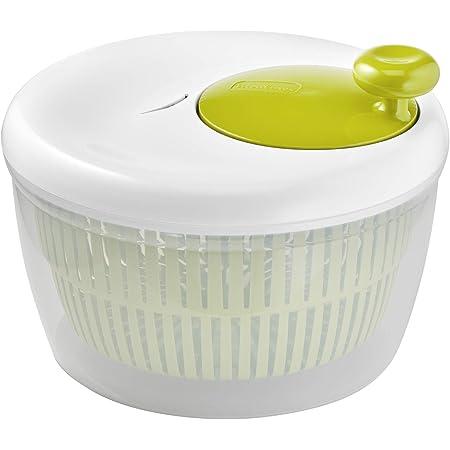 Moulinex Classic Essoreuse à salade 5 L (5/7 pers), Compatible lave-vaisselle, Essore la salade facilement et rapidement, Bouton stop, Fabriquée en France K1690104, fabriqué en France